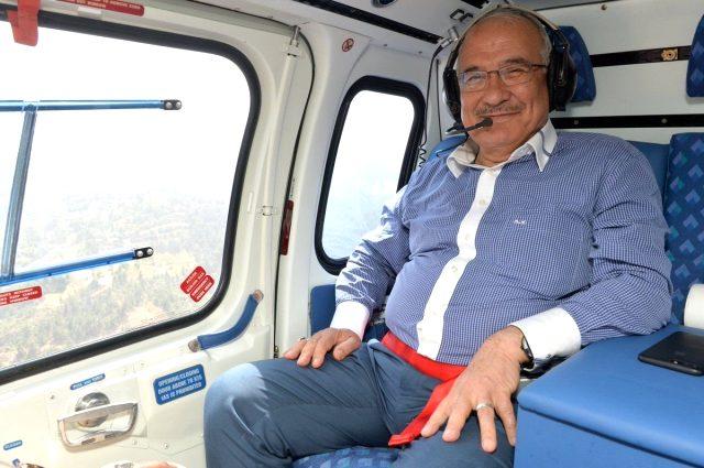 رئيس بلدية مرسين يطرح طائرة مروحية للبيع