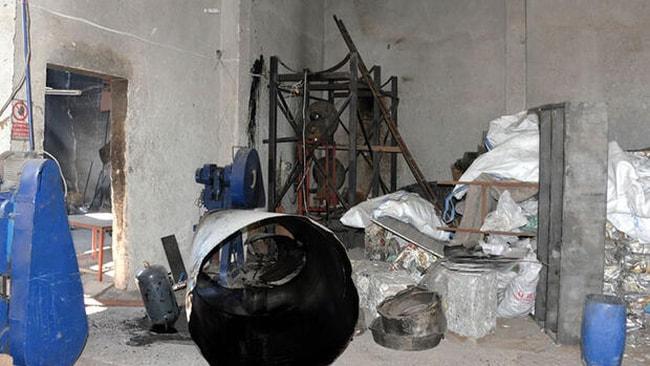 إصابة عامل سوري بحروق خطيرة إثر انفجار في ورشة صناعية بولاية كهرمان مرعش