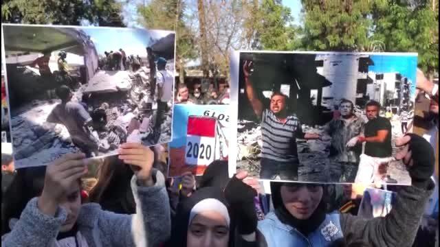 مظاهرة في هاتاي تضامناً مع إدلب