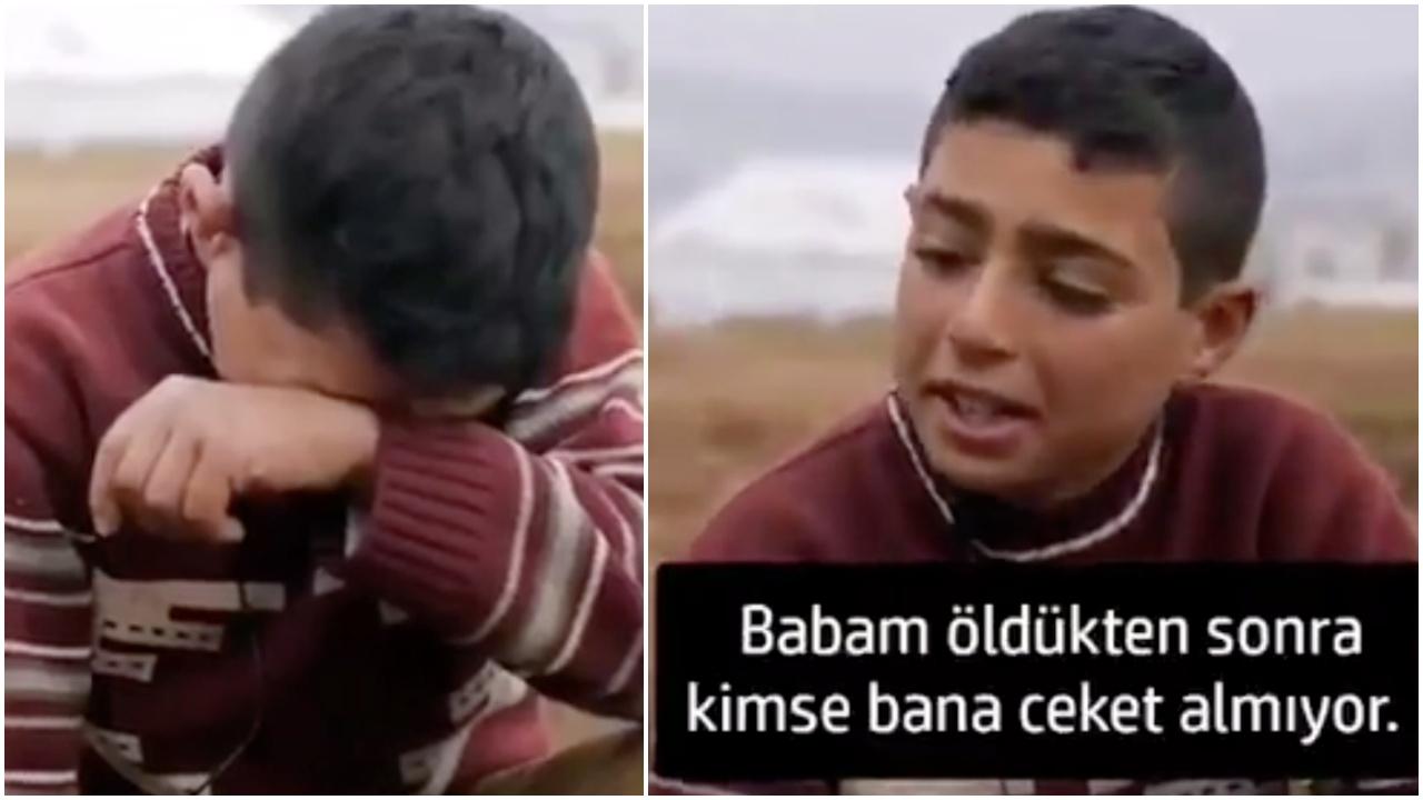 """طفل سوري نازح بمخيم """"أطمة"""" يثير مشاعر آلاف الأتراك"""
