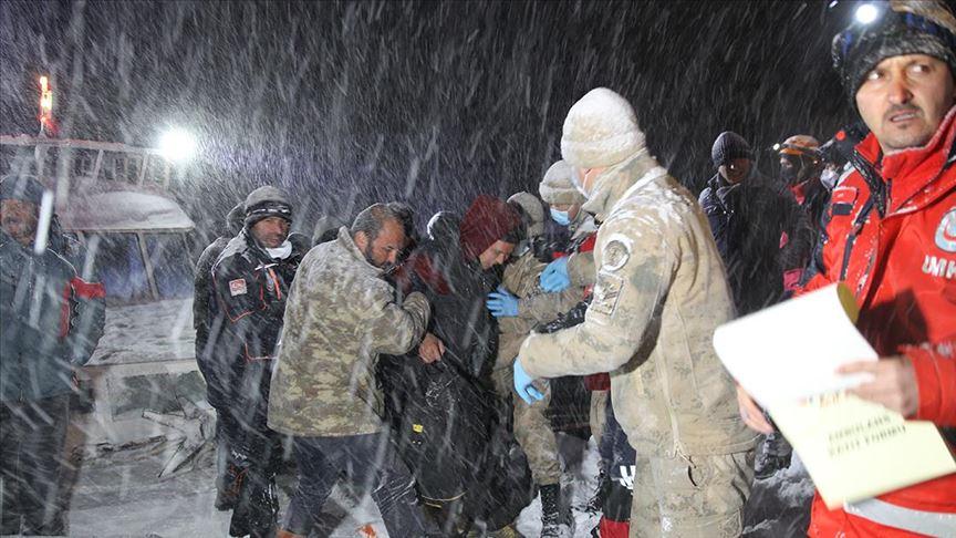 إنقاذ 49 مهاجرا من الموت تجمدا شرقي تركيا