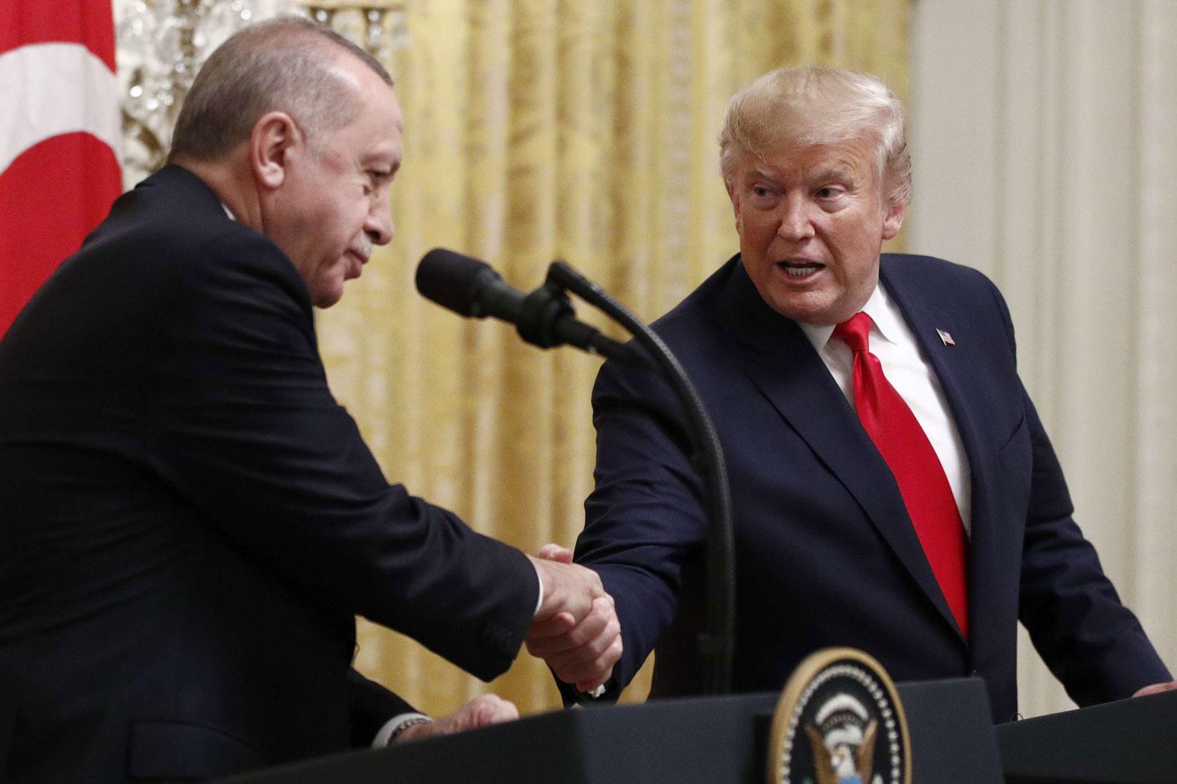 """ترامب: أردوغان و""""قسد"""" موافقان على عقد """"اتفاق سلام"""""""