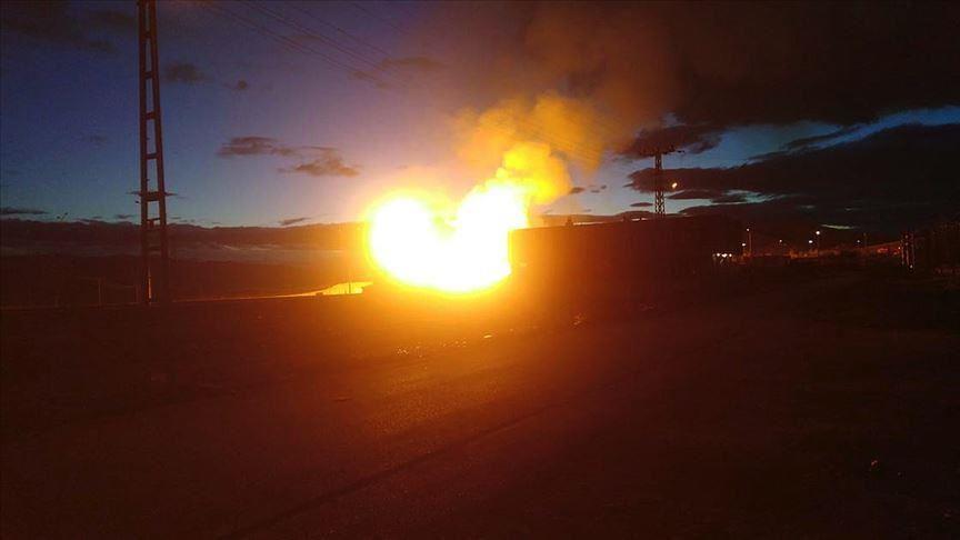 انفجار مجهول بخط أنابيب الغاز بين إيران وتركيا