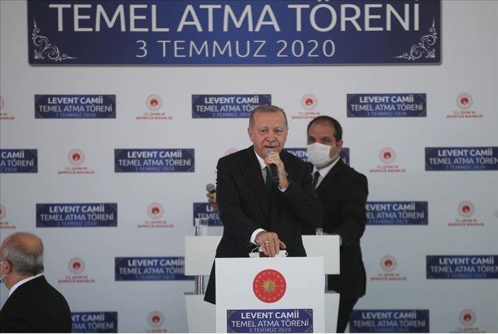 أردوغان يضع حجر الأساس لمسجد في إسطنبول