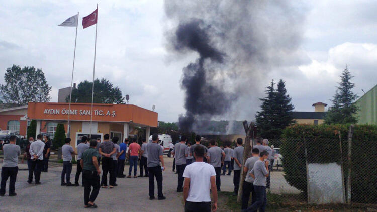 إصابة عاملَين بانفجار ضخم داخل مصنع في ولاية صقاريا