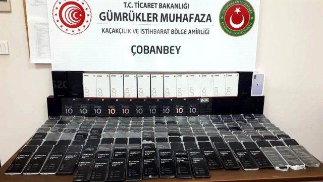 """""""الجمارك التركية"""" تحبط محاولة تهريب شحنة كبيرة من الهواتف الذكية من الأراضي السورية"""