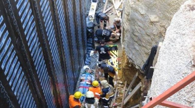 """إصابة عمال جراء انهيار جزئي في """"كاديكوي"""" بإسطنبول (صورة)"""