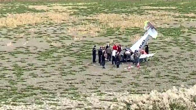 إصابة طيار تركي إثر سقوط طائرة تدريب في إسطنبول