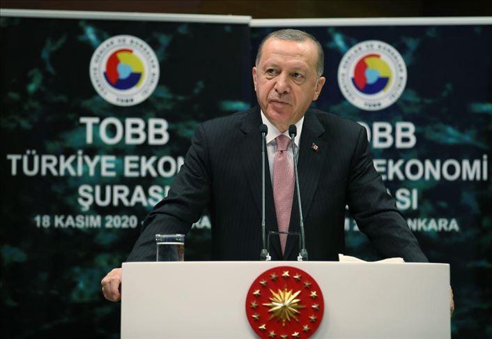 أردوغان يدعو المستثمرين إلى الاستثمار بكافة المجالات والقطاعات بتركيا
