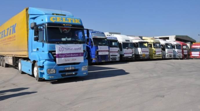 """الإغاثة التركية"""" ترسل 350 شاحنة مساعدات إلى سوريا"""