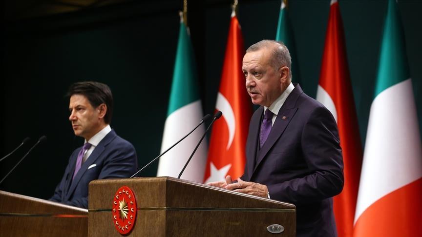 أردوغان: تركيا تولي أهمية للعلاقات مع إيطاليا