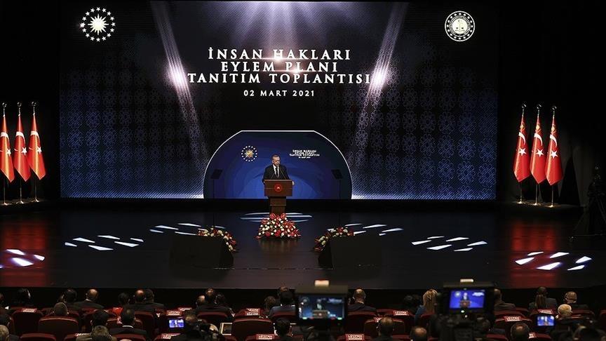 تركيا.. أردوغان يكشف عن مبادئ خطة عمل حقوق الإنسان
