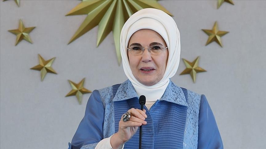 أمينة أردوغان تتلقى 150 رسالة شكر دولية