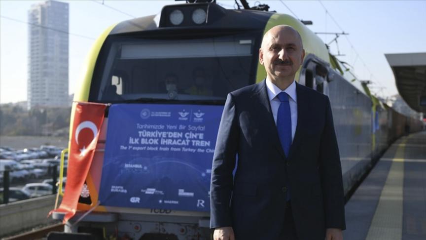 طفرة نقل البضائع التركية بالسكة الحديد العابرة للقارات