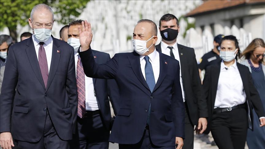 وزير الخارجية التركي يصل سراييفو قادما من سلوفينيا