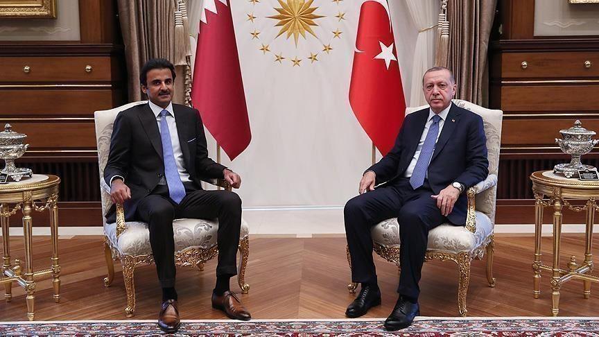 أمير قطر والرئيس التركي يبحثان تعزيز العلاقات الاستراتيجية