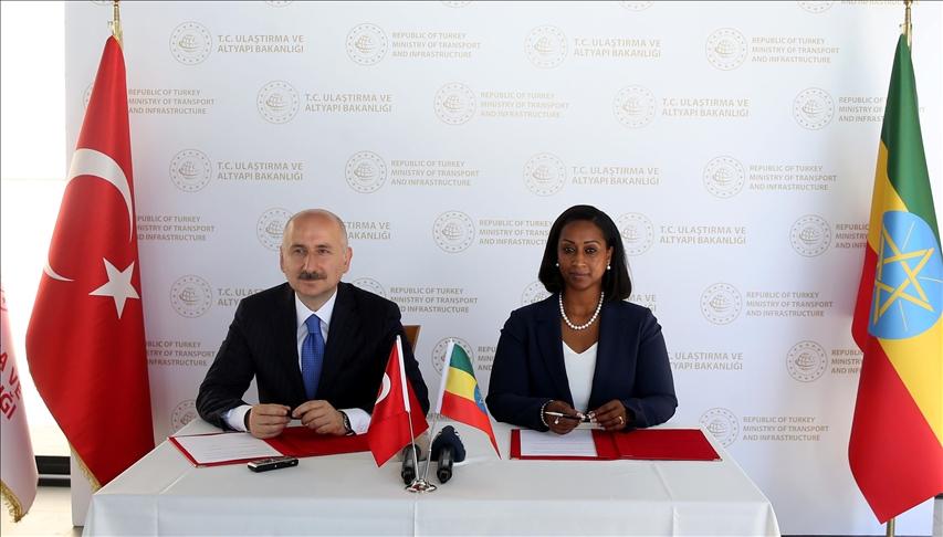 مذكرة تفاهم بين تركيا وإثيوبيا بشأن التعاون بمجال النقل