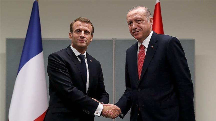 بروكسل.. بدء لقاء أردوغان وماكرون على هامش قمة الناتو