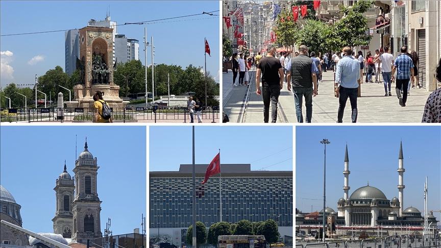 """مسجد وكنيسة ومركز ثقافي.. ميدان """"تقسيم"""" قلب إسطنبول النابض"""