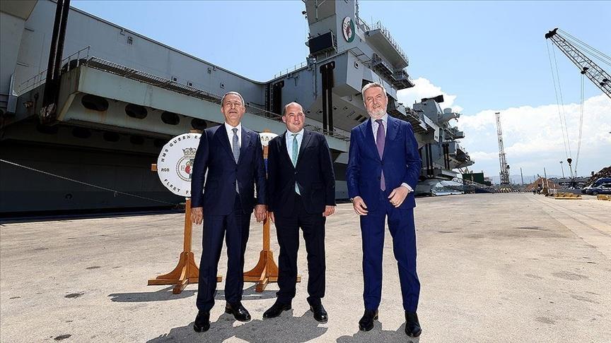 وزراء دفاع تركيا وبريطانيا وإيطاليا يبحثون التعاون الدفاعي