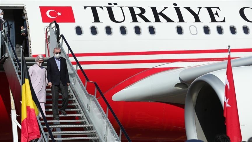 """أردوغان يصل بروكسل للمشاركة في قمة """"الناتو"""""""