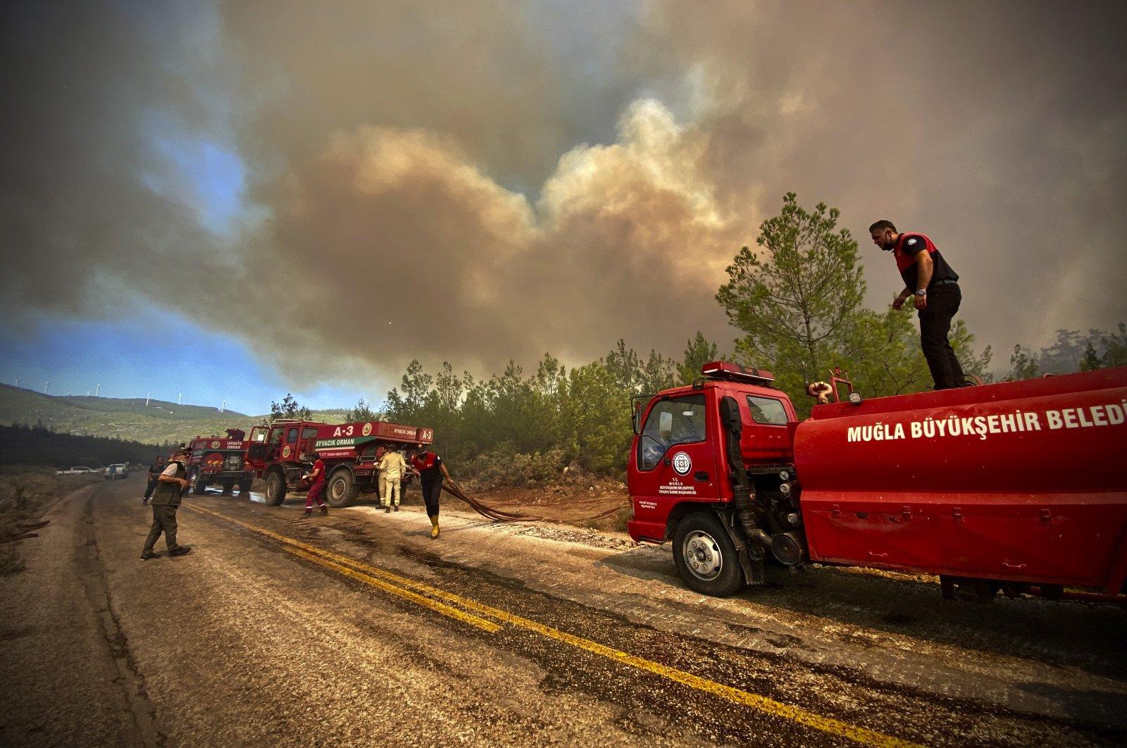استغلال حرائق الغابات في تركيا للهجوم على الحكومة