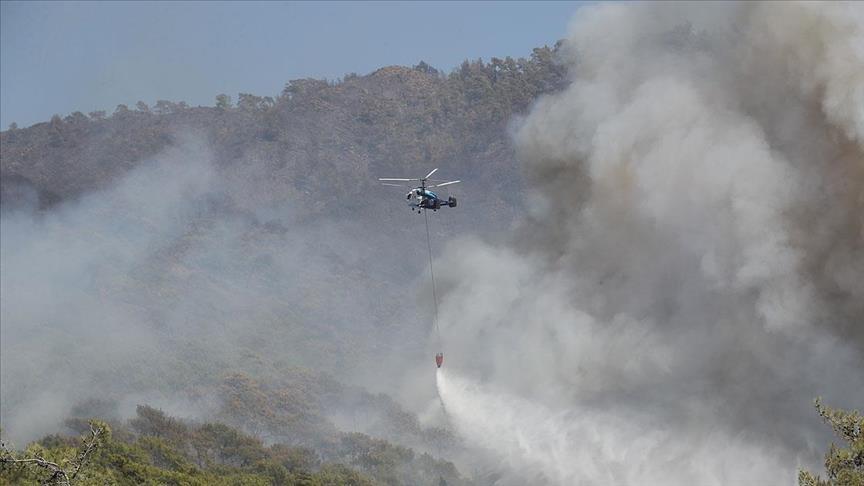الرئاسة التركية تنشر معطيات جهود إخماد حرائق الغابات
