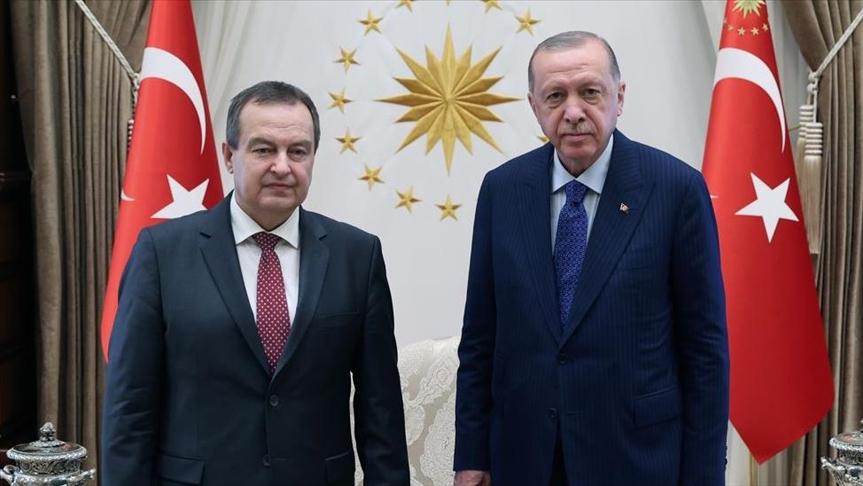 أردوغان يلتقي رئيس البرلمان الصربي