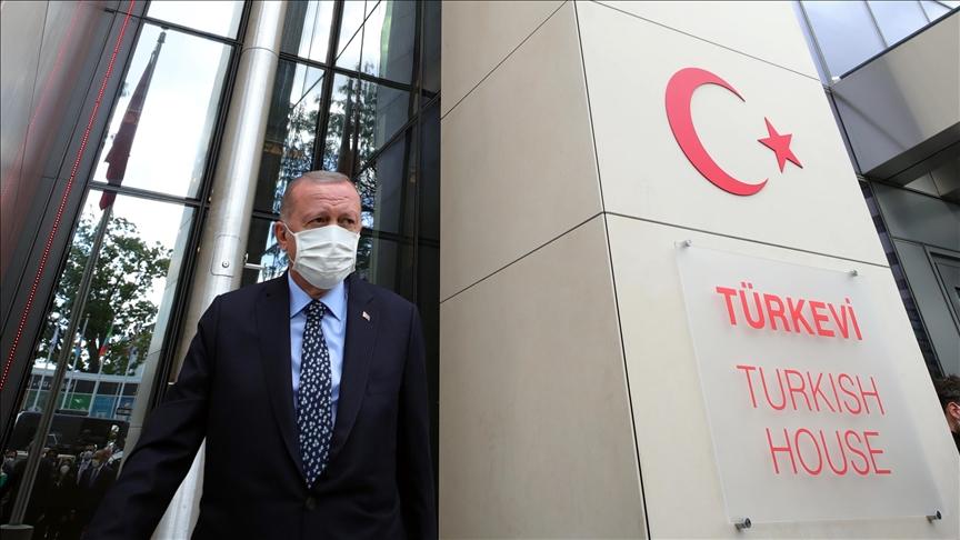 """أردوغان: """"البيت التركي"""" في نيويورك يعكس قوه تركيا المتصاعدة"""