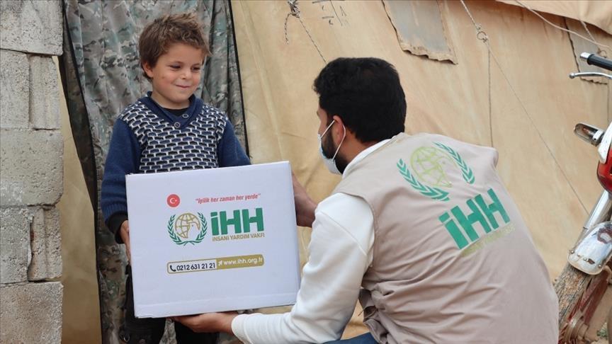 تركيا.. هيئة الإغاثة تقدم مساعدات لـ5 آلاف أسرة بريف إدلب